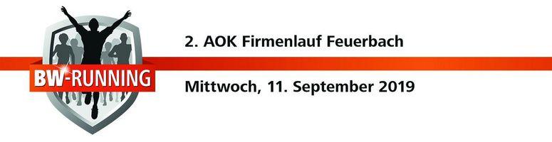 2. AOK Firmenlauf Feuerbach am Mittwoch, 11. September 2019, Start: 18.00 Uhr - Stadion der Sportvereinigung Feuerbach