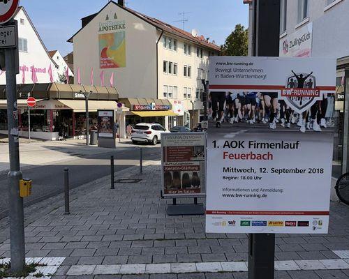 1. AOK Firmenlauf Feuerbach - am 12. September geht's los!